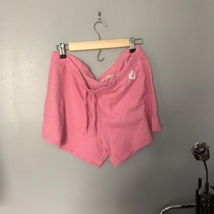 Vs pink drawstring shorts L